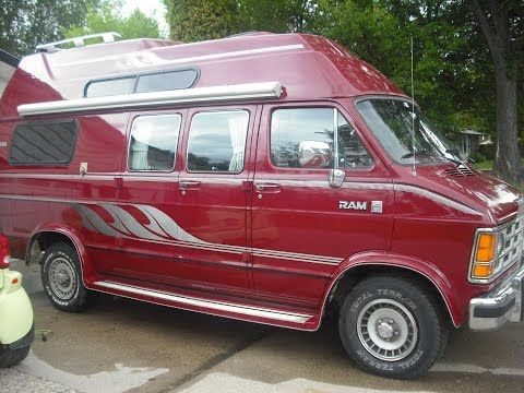 88 Big Red Get-Away Camper Van Conversion - YouTube   Van