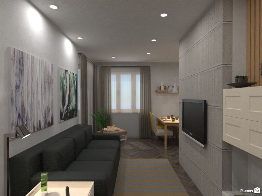 Living And Dining Room Interior Planner 5d