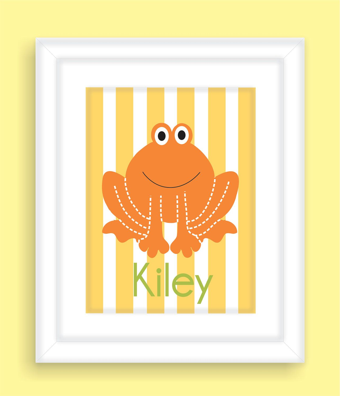 Frog Children\'s Bathroom wall art | Kids crafts | Pinterest ...