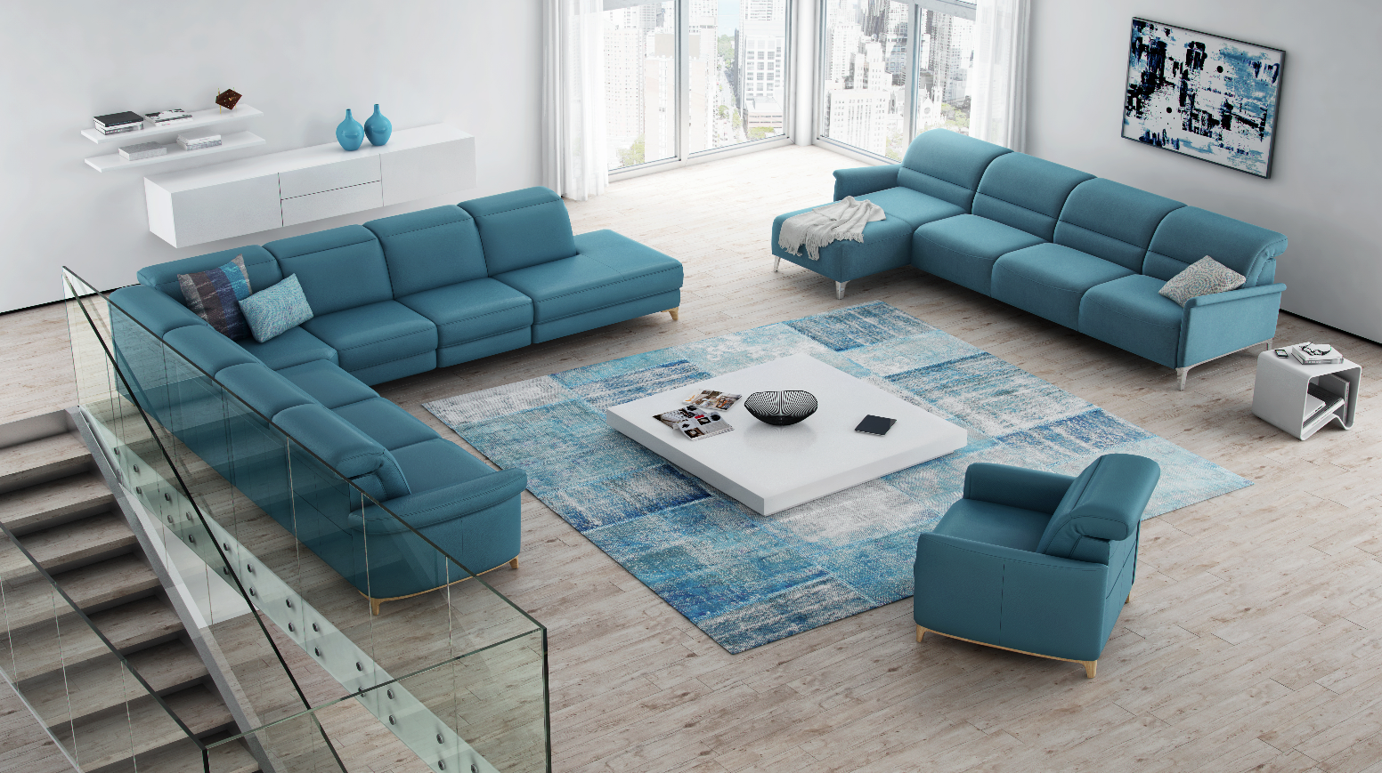 Reclining Sofa Modular luxury sofa Bellona for the ultimate in fort featuring ROM us sizing concept electric recliner and headrest seat and lumbar heating