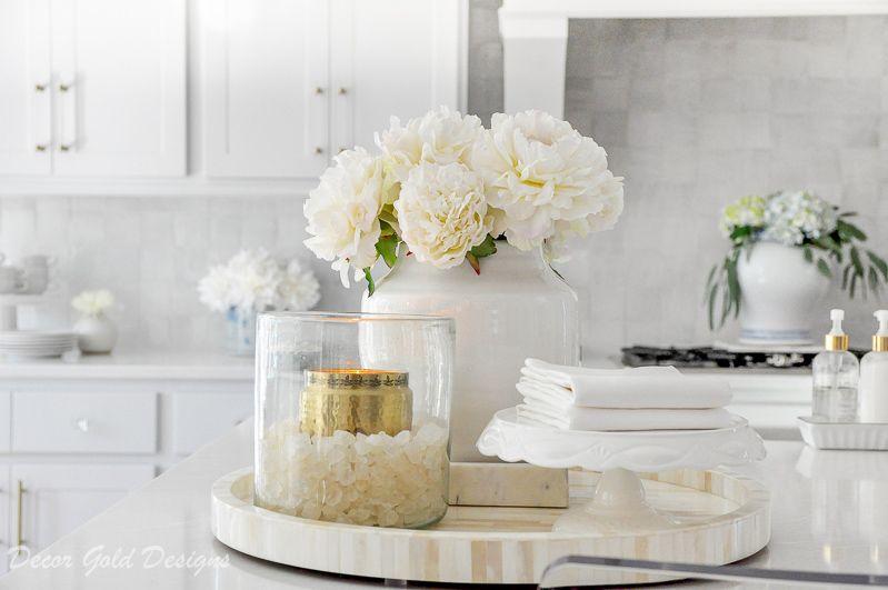 Winter Home Tour Decor Gold Designs Countertop Decor Round