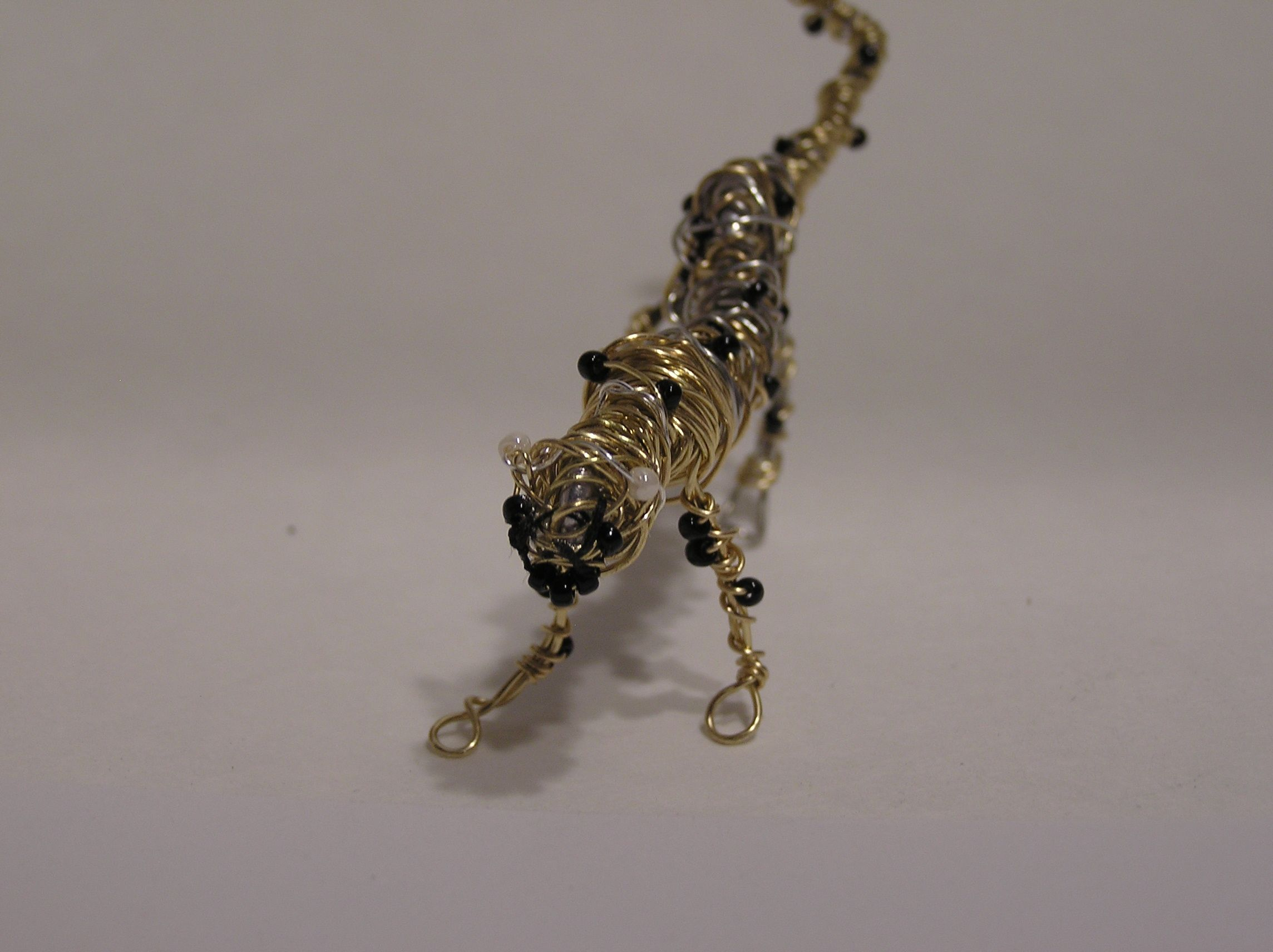 Emerson's Cheetah...mini wire sculpture by Phaedra of Lambzy Divey