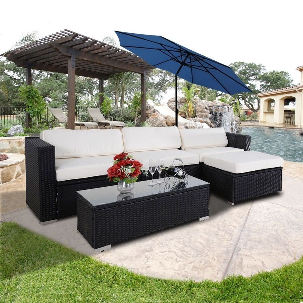 Details about 7PC Outdoor Patio Patio Sectional Furniture PE
