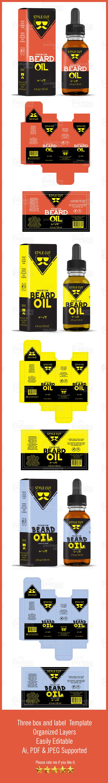 Beard Oil Label Template Vol  Oil