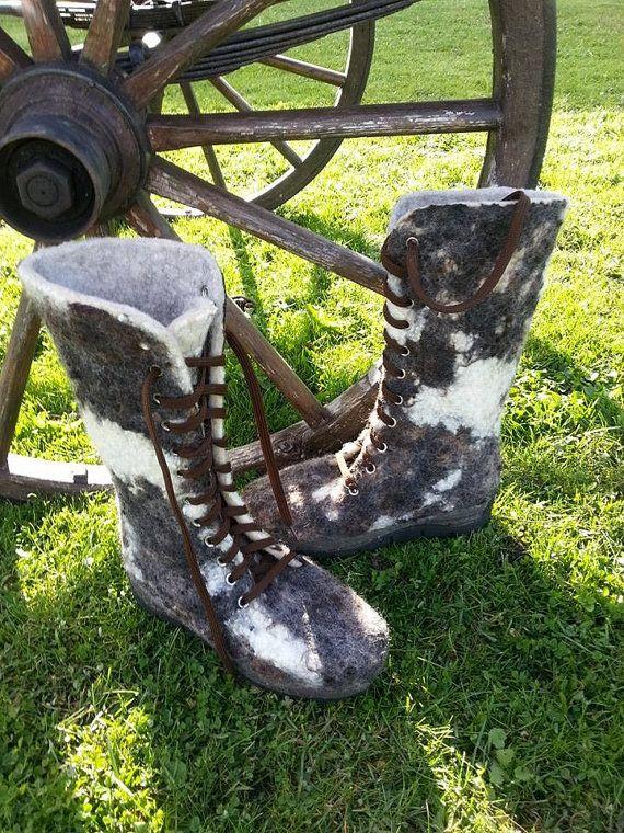 Handgefertigte wolle Gefilzte Schuhe für die Frau