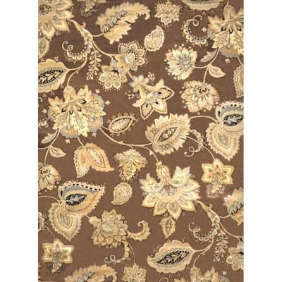 Home Decorators Collection Tiara Brown 7 Ft. 8 In. X 10 Ft. 2 In. Indoor  Area Rug