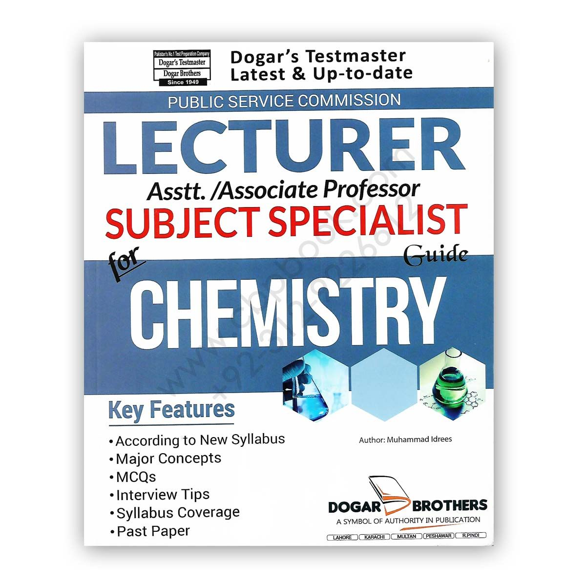 LECTURER / SUBJECT SPECIALIST Guide For CHEMISTRY DOGAR