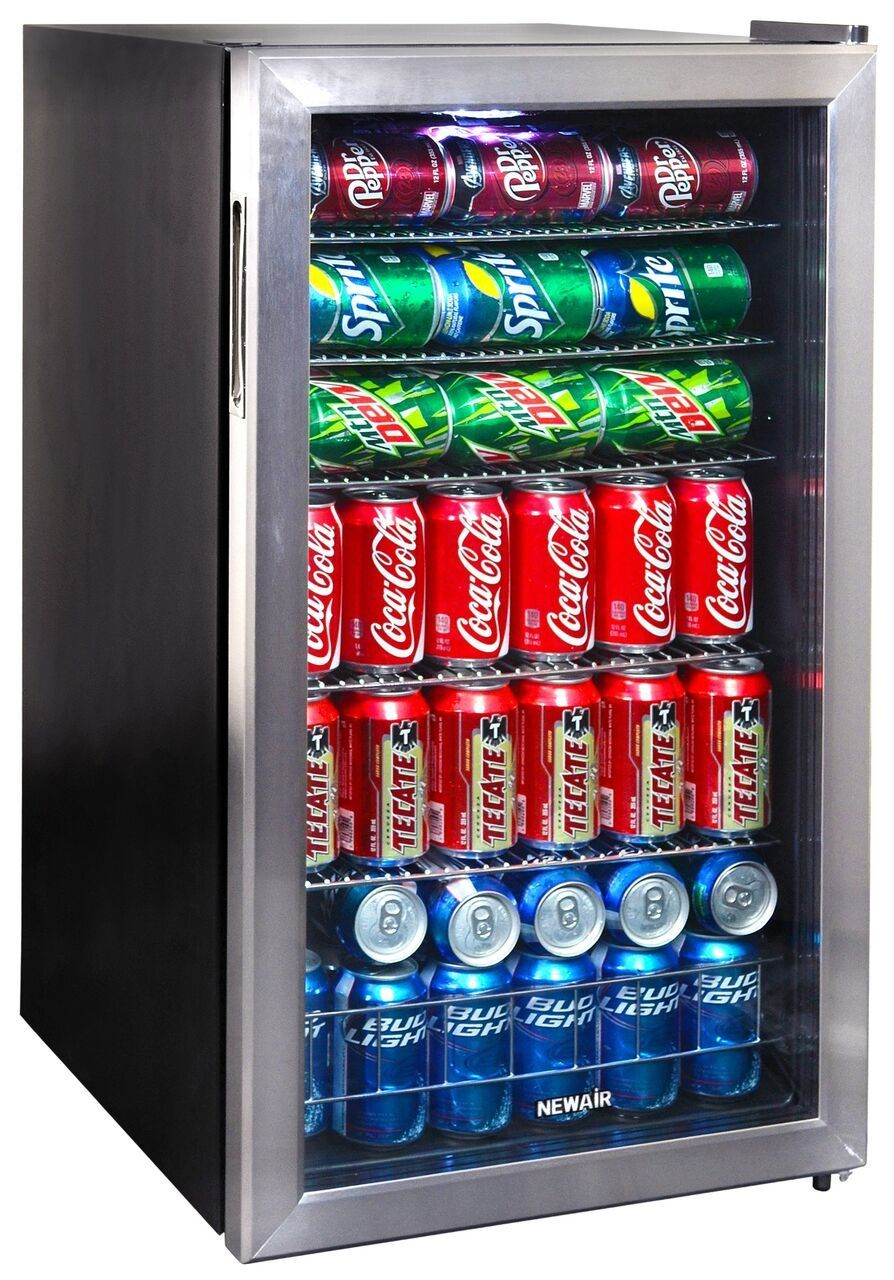 Stainless Steel 126 Can Beverage Cooler In 2020 Beverage Cooler Beverage Refrigerator Beverage Center