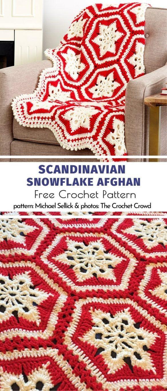 Couvertures festives de flocon de neige   – Crochet