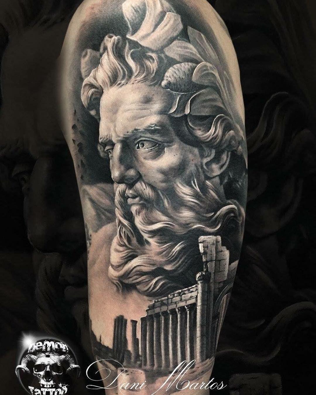 Greek God By Demon Tattoo