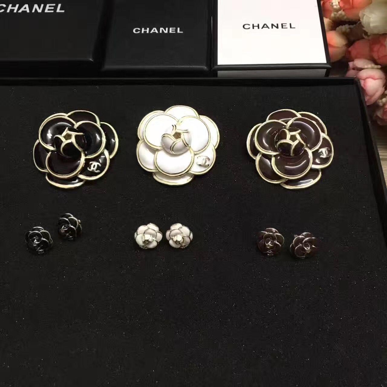 Chanel Camellia Flower Brooch Earrings Chanel Flower Chanel Camellia Chanel Camellia Flower