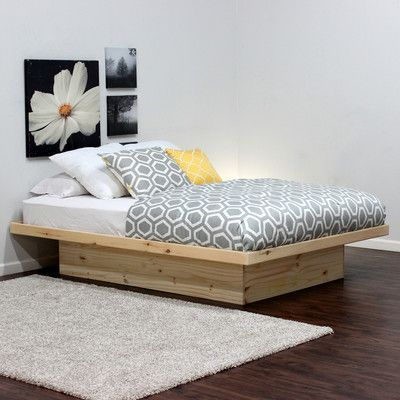 Gothic Furniture Platform Bed Size: Full, Color: Unfinished | Dormitorio