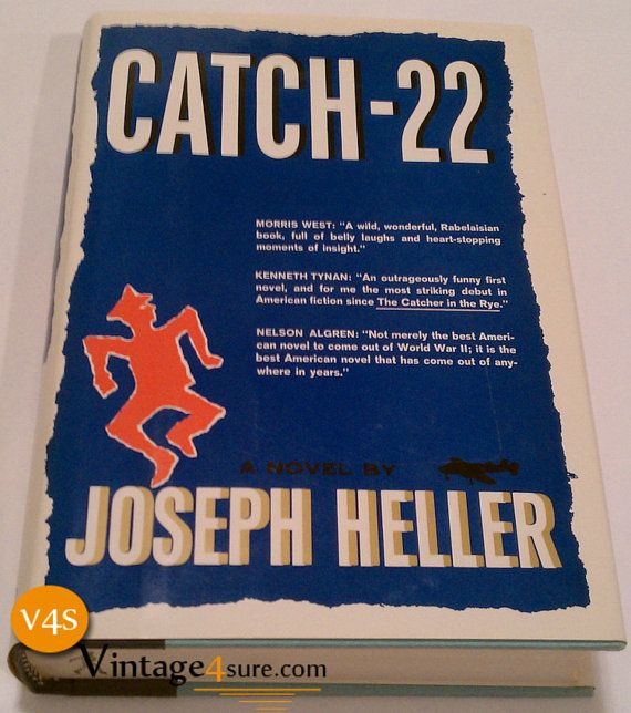 Catch  22 Joseph Heller 1961 by Vintage4sure on Etsy, $15.00