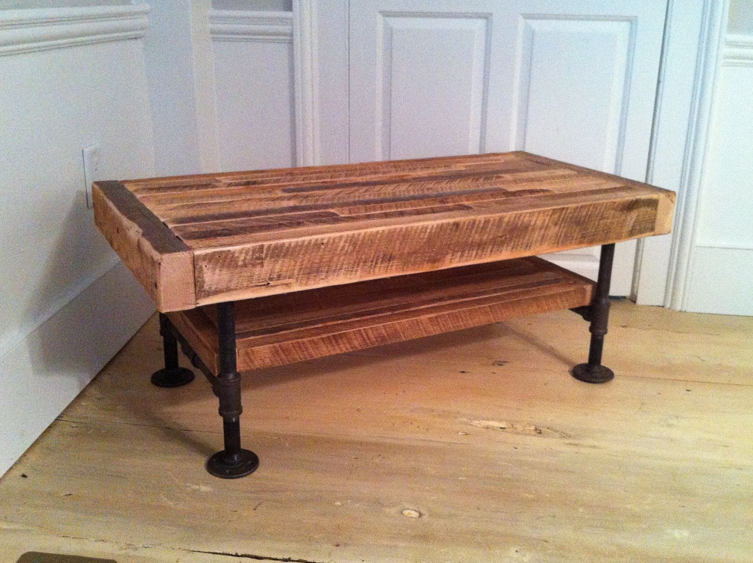 Industrial Wood & Steel Media Console Or Entertainment Center ...