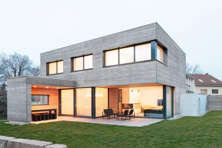 So gemütlich kann der Bauhausstil sein | Moderne häuser, Häuschen ...