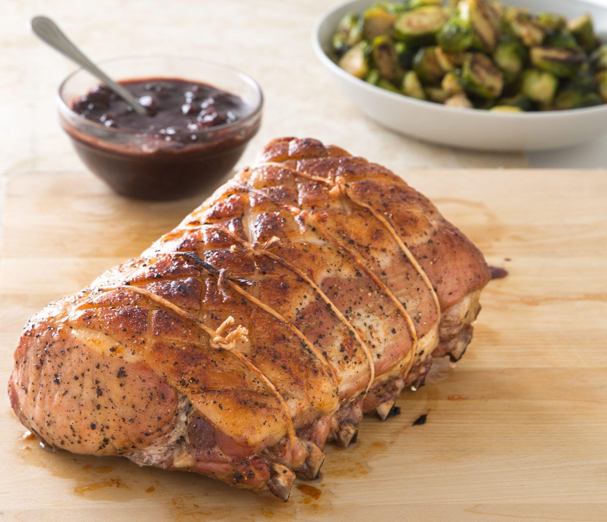 Slow Roasted Bone In Pork Rib Roast