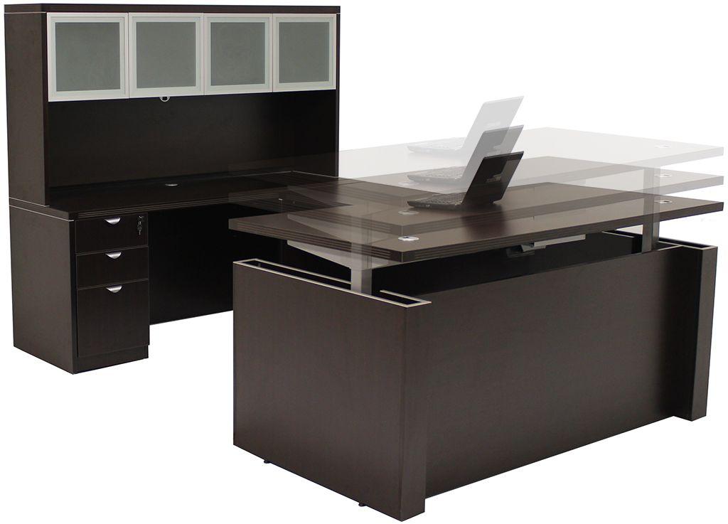 Adjustable Height Office Desks Golaria Com In 2020 Office Furniture Inspiration Office Furniture Modern Modern Office Furniture Design