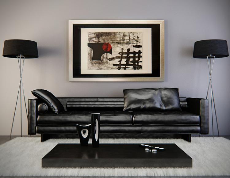 Para resaltar un mueble color negro, lo ideal es pintar las paredes ...