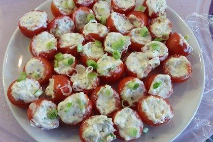 Gefüllte Tomaten mit Schafskäse - Creme von ManuGro | Chefkoch #foodrecipies