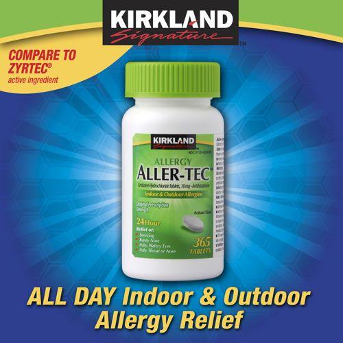 Kirkland Signature Aller-Tec, 365 Tablets | Dog Tricks