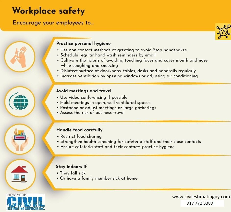 Stay Safe ! Take Precautions ! Workplace Safety in 2020