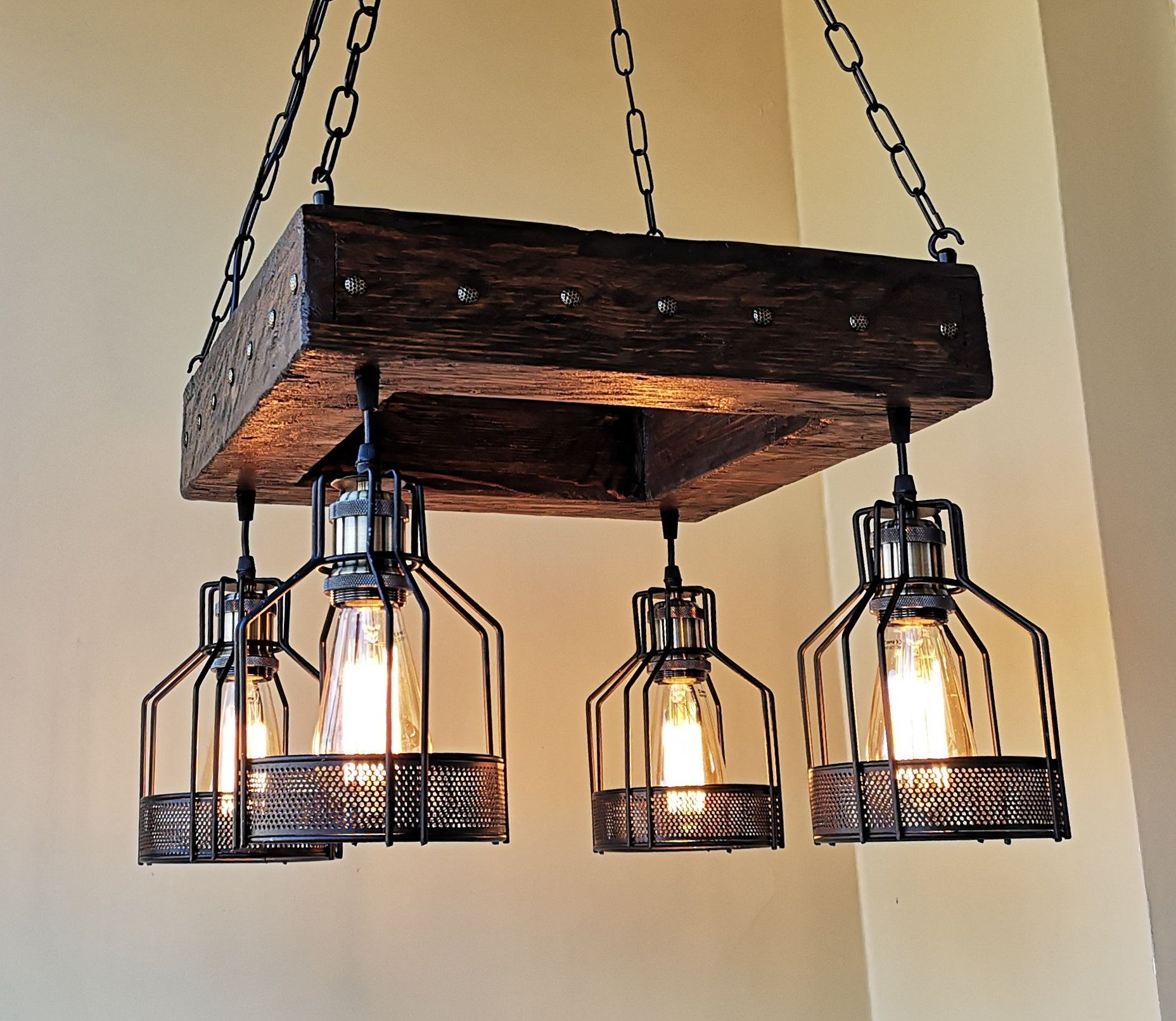 Rustic Chandelier Industrial Modern Lighting Commercial Rustic