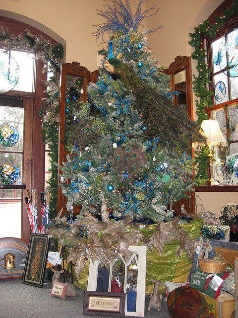 25 Christmas Tree Decorating Ideas - Christmas Decorating - peacock christmas decorations