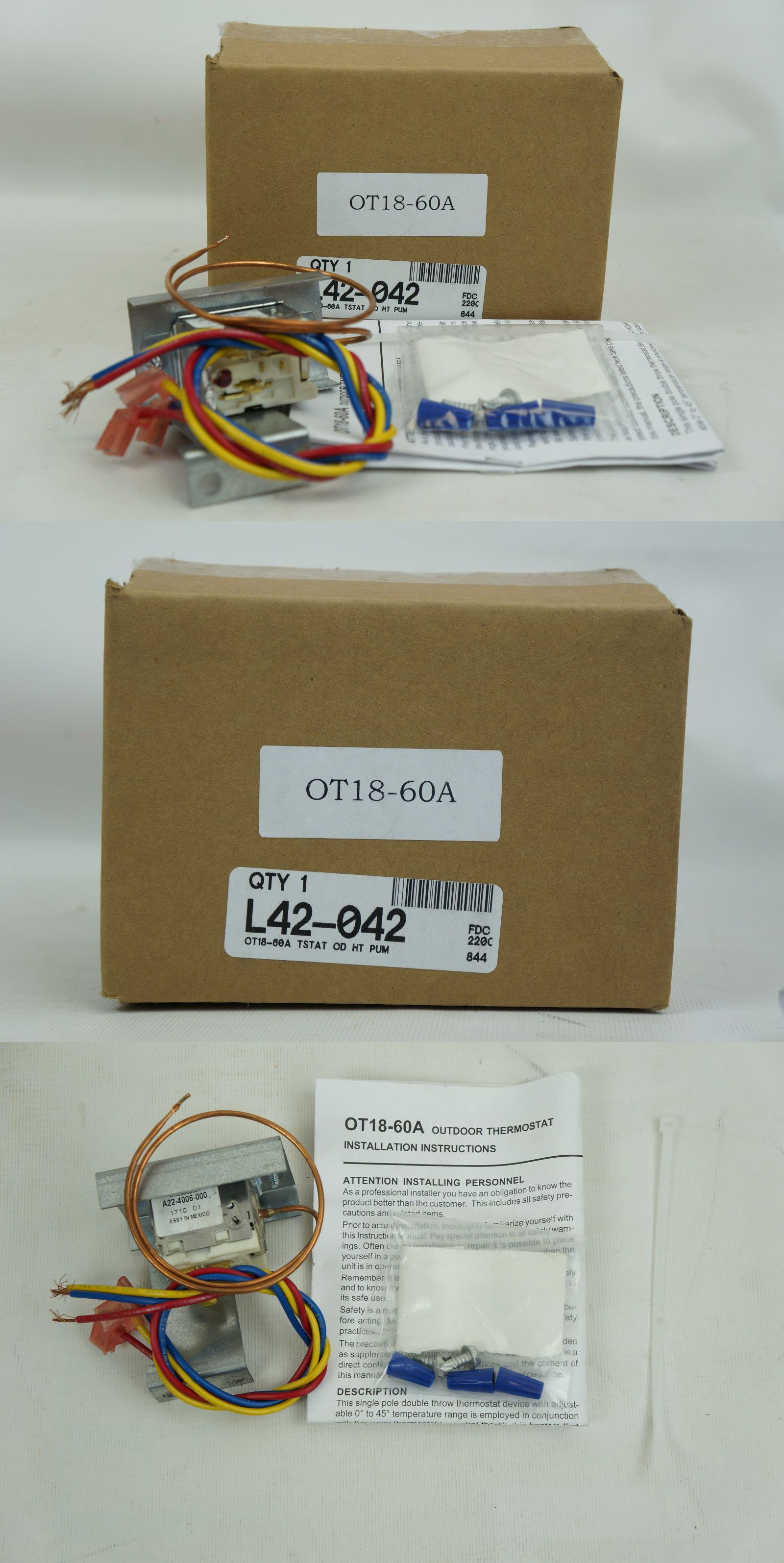 Other thermostats 41988 new goodman ot18 60a outdoor thermostat other thermostats 41988 new goodman ot18 60a outdoor thermostat for heat pump sciox Gallery