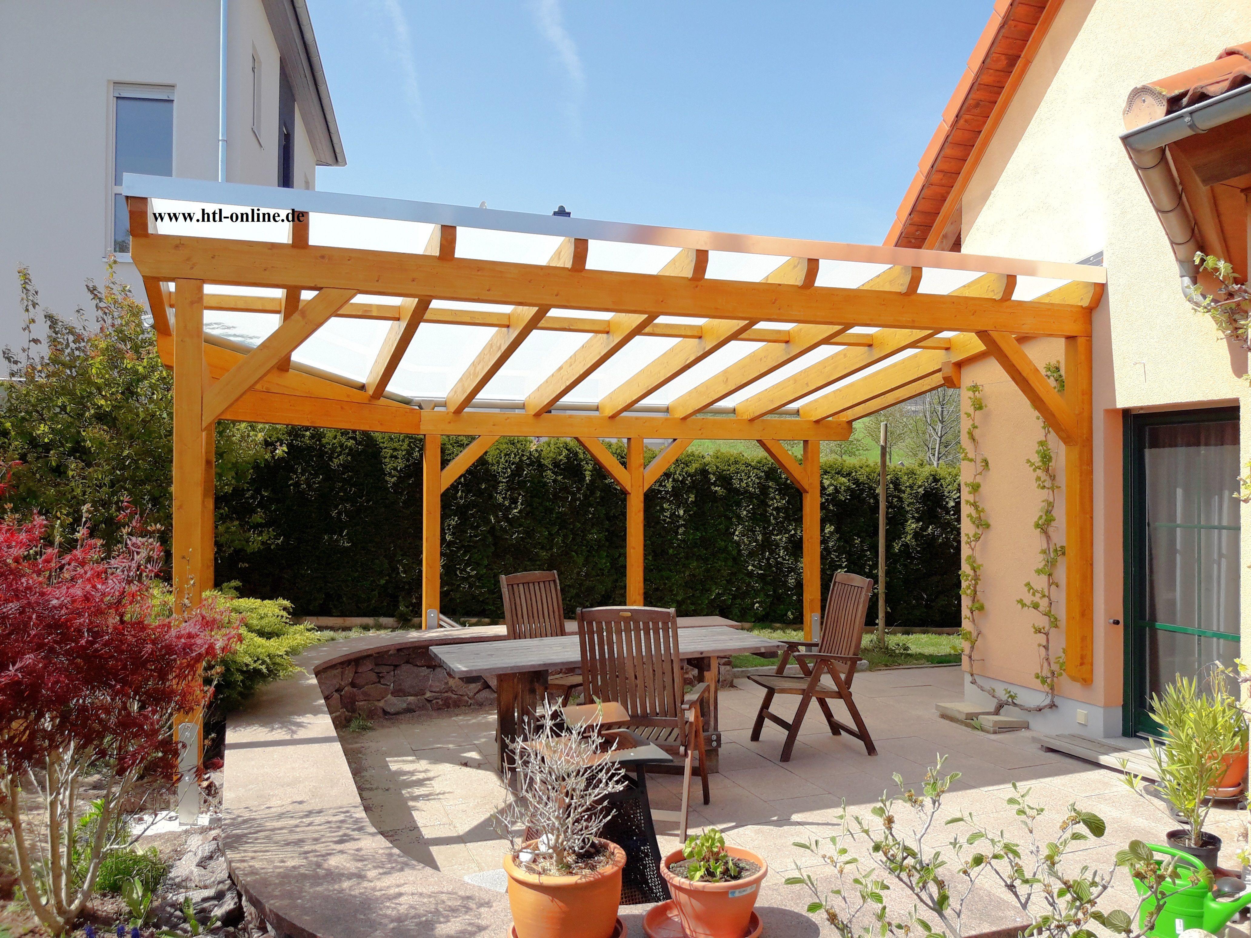 Uberdachung Aus Holz Htl Holztechnik Holz Arbeit Mit Holz Uberdachung Aus Holz Uberdachung Holz Garten Terrasse Vordach Selber Bauen