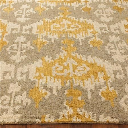 hand hooked ikat rug | ikat, gray and living rooms