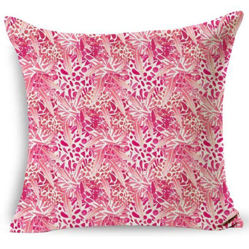 Lovely Flamingo Printed Throw Pillow Case Houseware Fashion Cotton Linen Decorative Square Pillowcase Home Supplies