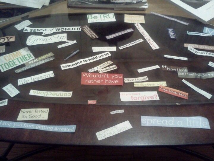 The start of my love note...cut out style!!!