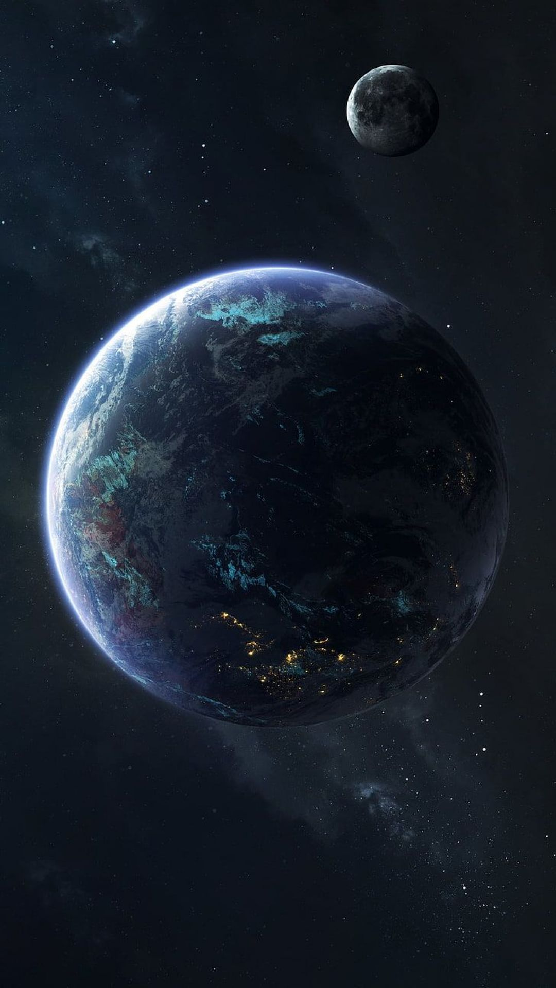 Planet Earth Abstract Android Iphone Desktop Hd Backgrounds Wallpapers 1080p 4k 100035 Hdwallpa Planets Wallpaper Space Art Solar System Wallpaper