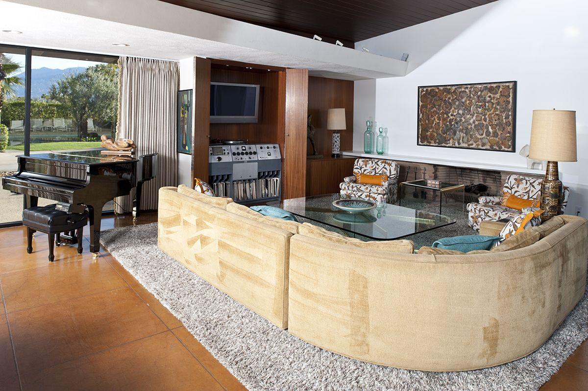 Frank Sinatra House Palm Springs Living Room