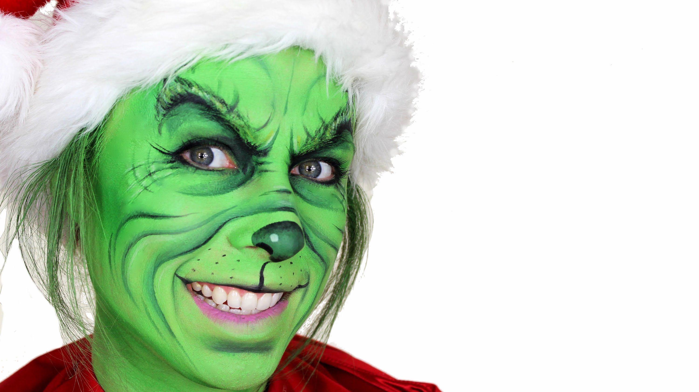 The Grinch Christmas Makeup Tutorial