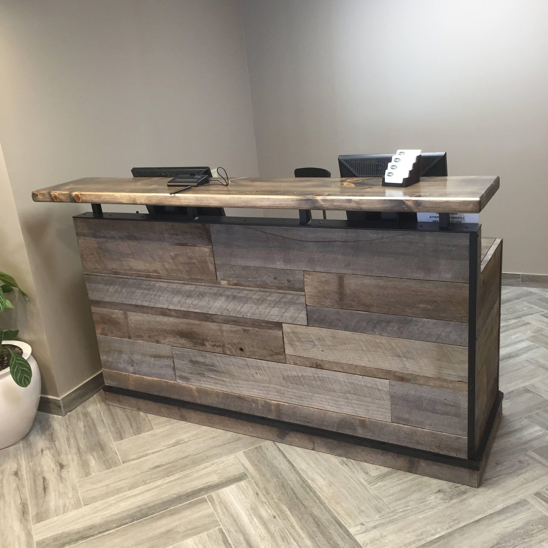 Barn Wood Reception Desk Front Counter Modern Desk