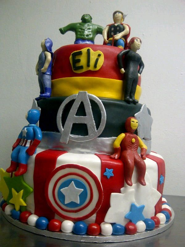 Avengers just for your little man Created by Belles Our Cakes