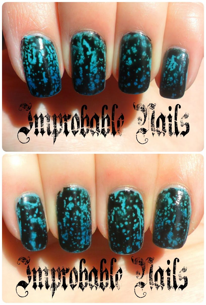 "Improbable Nails: Swatch: LAYLA Bubbly Effect nail polish 02 ""BLACK FOREST"""