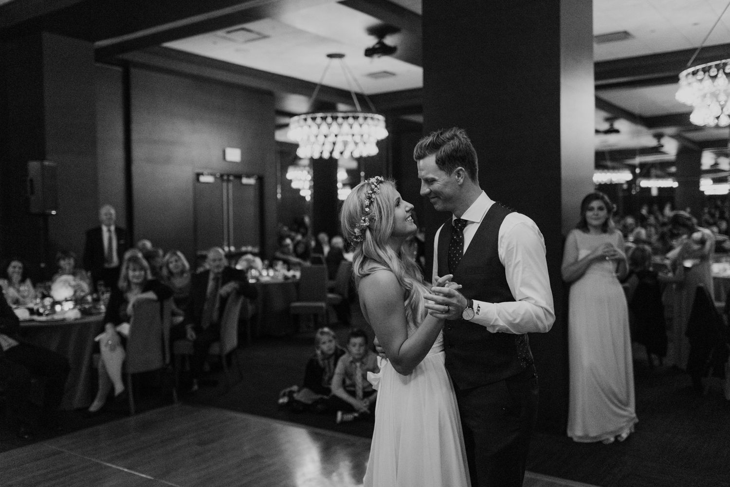 Thompson Hotel Wedding Reception Ballroom First Dance Love Married