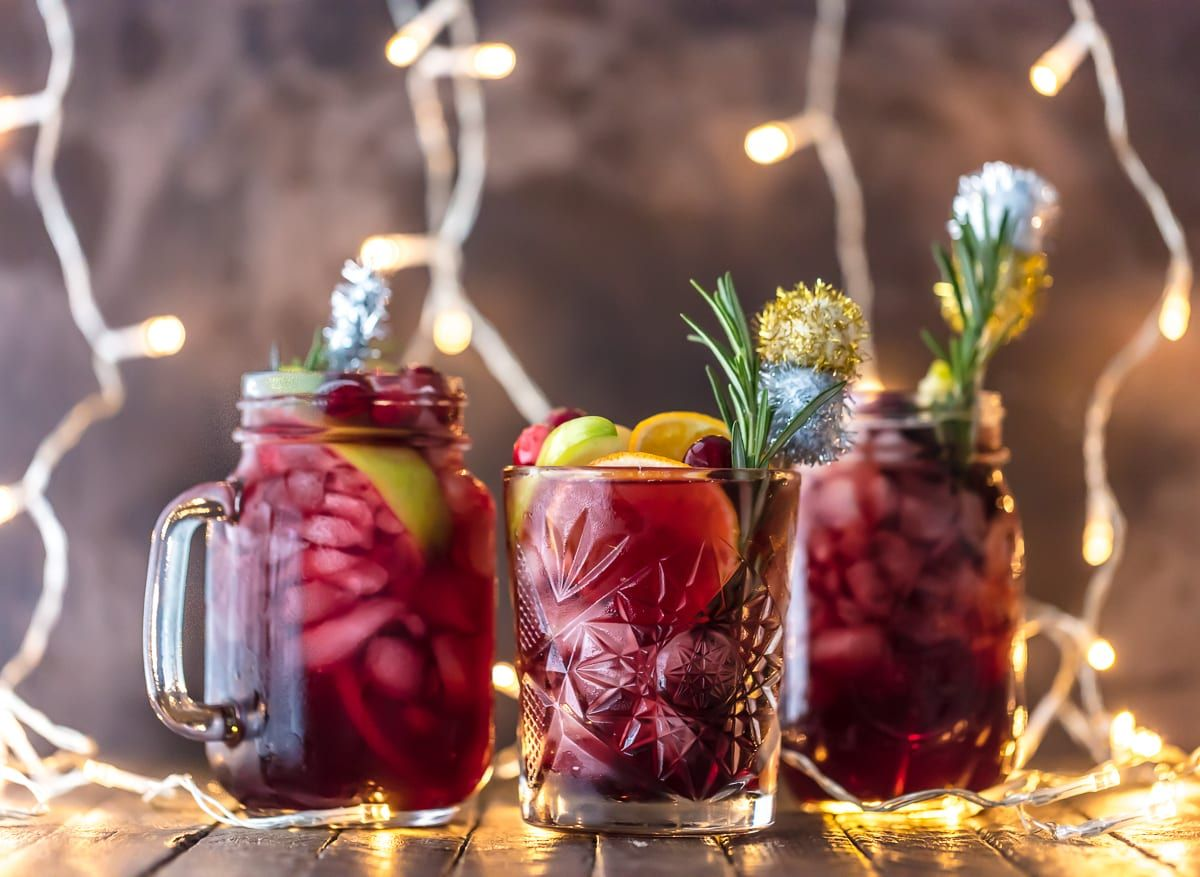 Easy Holiday Sangria Gluten Free Is The Perfect Christmas Cocktail Made With Red Wine Vodka Spa Holiday Sangria Christmas Sangria Holiday Sangria Recipes