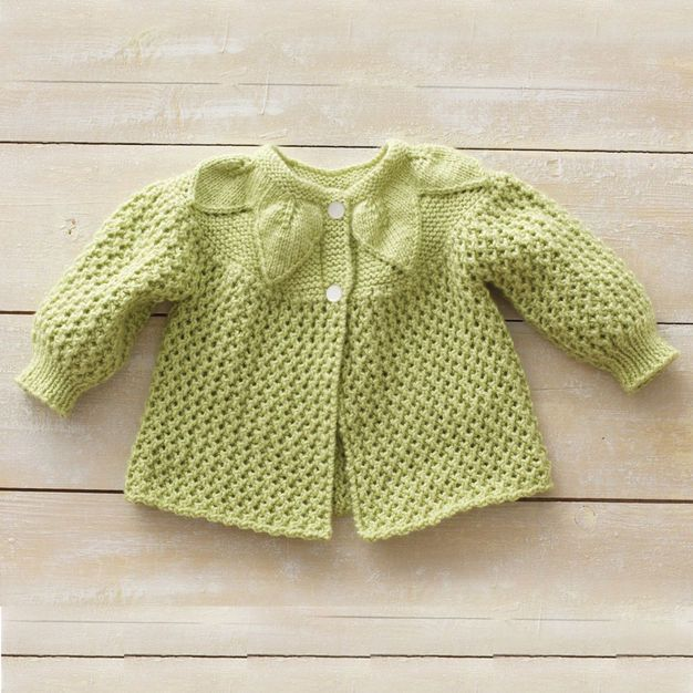 Bernat Leaf and Lace Set, Jacket - 3 mos | Projects to try ...