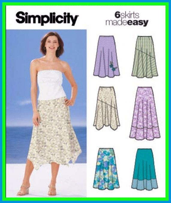 Simplicity 5503 Easy BOHO SKIRTS 2 Lengths 6 Hem Variations Sewing ...