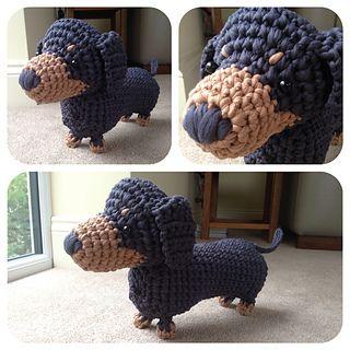 Free Knitting Pattern For Dachshund Dog : Ravelry: Boodles Dachshund FREE pattern by Laura Sutcliffe, CrochetHolic - ...