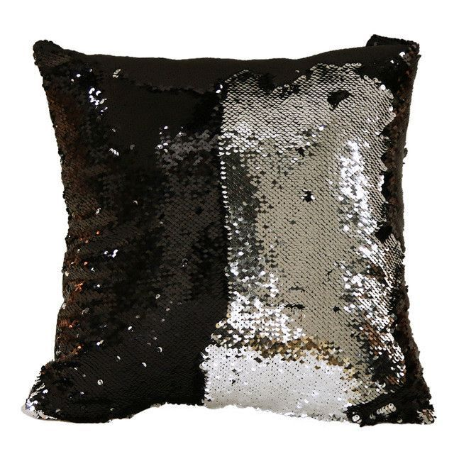 Reversible Sequin Cushion Throw Pillow