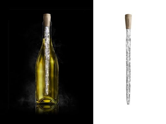 the corkcicle cools wine while looking cool