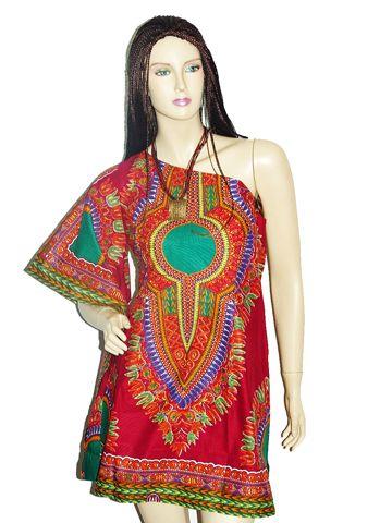 expression d 39 l gance robe coupe moderne asym trique avec une large manche en tissu africain. Black Bedroom Furniture Sets. Home Design Ideas