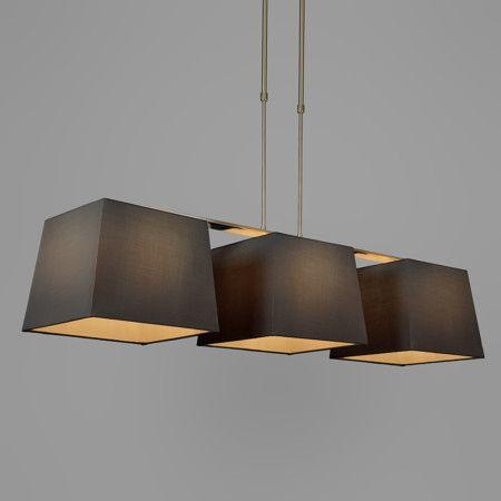 Popular Pendelleuchte Combi Delux Schirm quadratisch cm schwarz Pendelleuchte Lampe Esstischlamme Wohnzimmerlampe