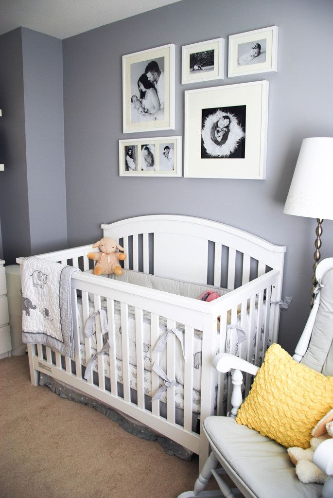 Hazel 39 s yellow and gray gender neutral nursery - Babyzimmer neutral ...