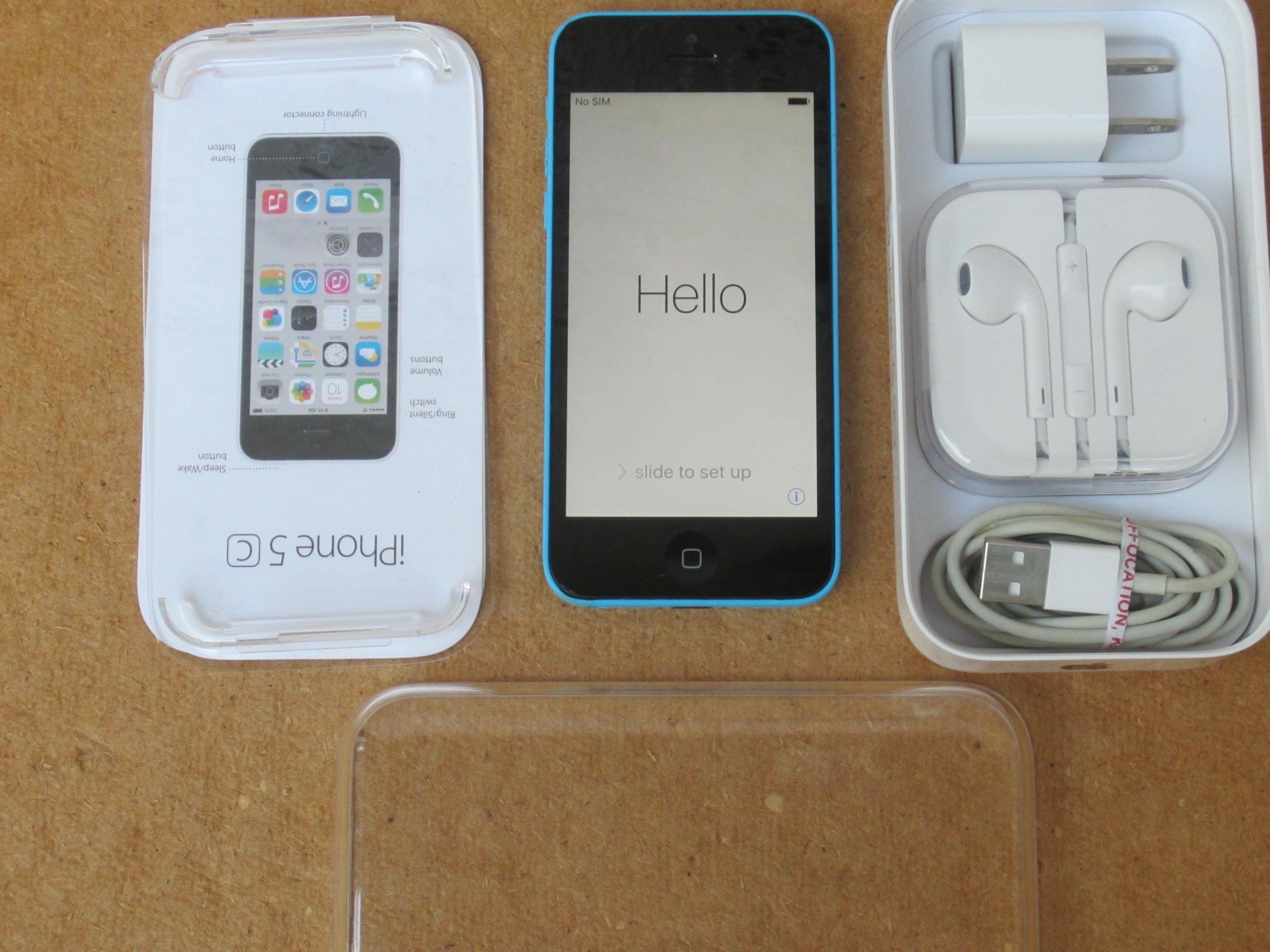 For sale verizon apple iphone 5c 16 gb blue unlocked