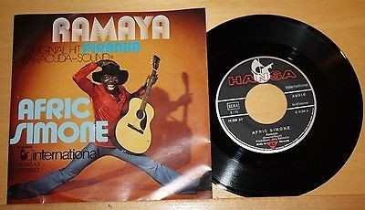 AFRIC-SIMONE-Ramaya-Piranha-Vinyl-7-Single-Hansa-international